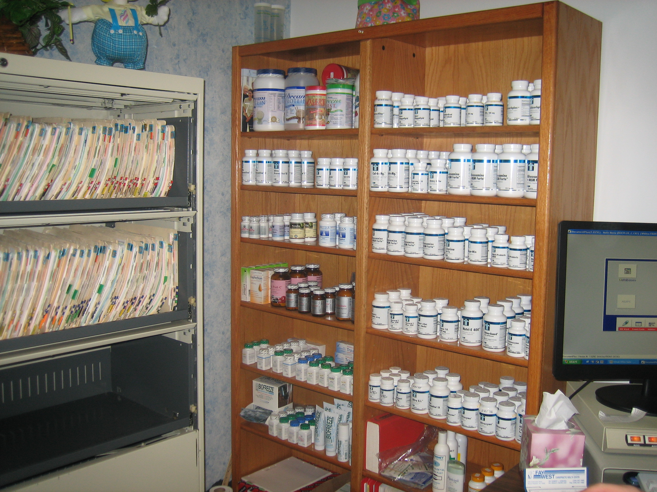 Vitamin & Nutritional Supplement Display
